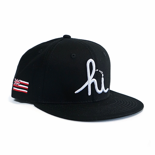 IN4MATION X Aloha Army - HI LANDS SNAPBACK - Black