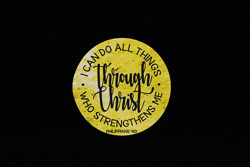 "I Can Do All Things - Philippians 4:13 - Jar Opener - 5""Round - Black"