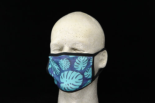 Tropical Monstera Leaves || 2-Layer Face Mask Adult Unisex with Filter Pocket
