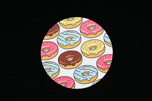 "Donuts Variety - Jar Opener - 5""Round - Black Backing"