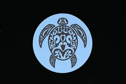 "Tribal Turtle | Honu | Tropical Hawaiian  - Jar Opener - 5""Round - Black B"