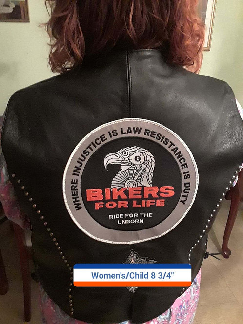The Bikers for Life womens and childrens back patch