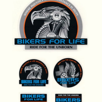 Bikers for Life  Sticker set