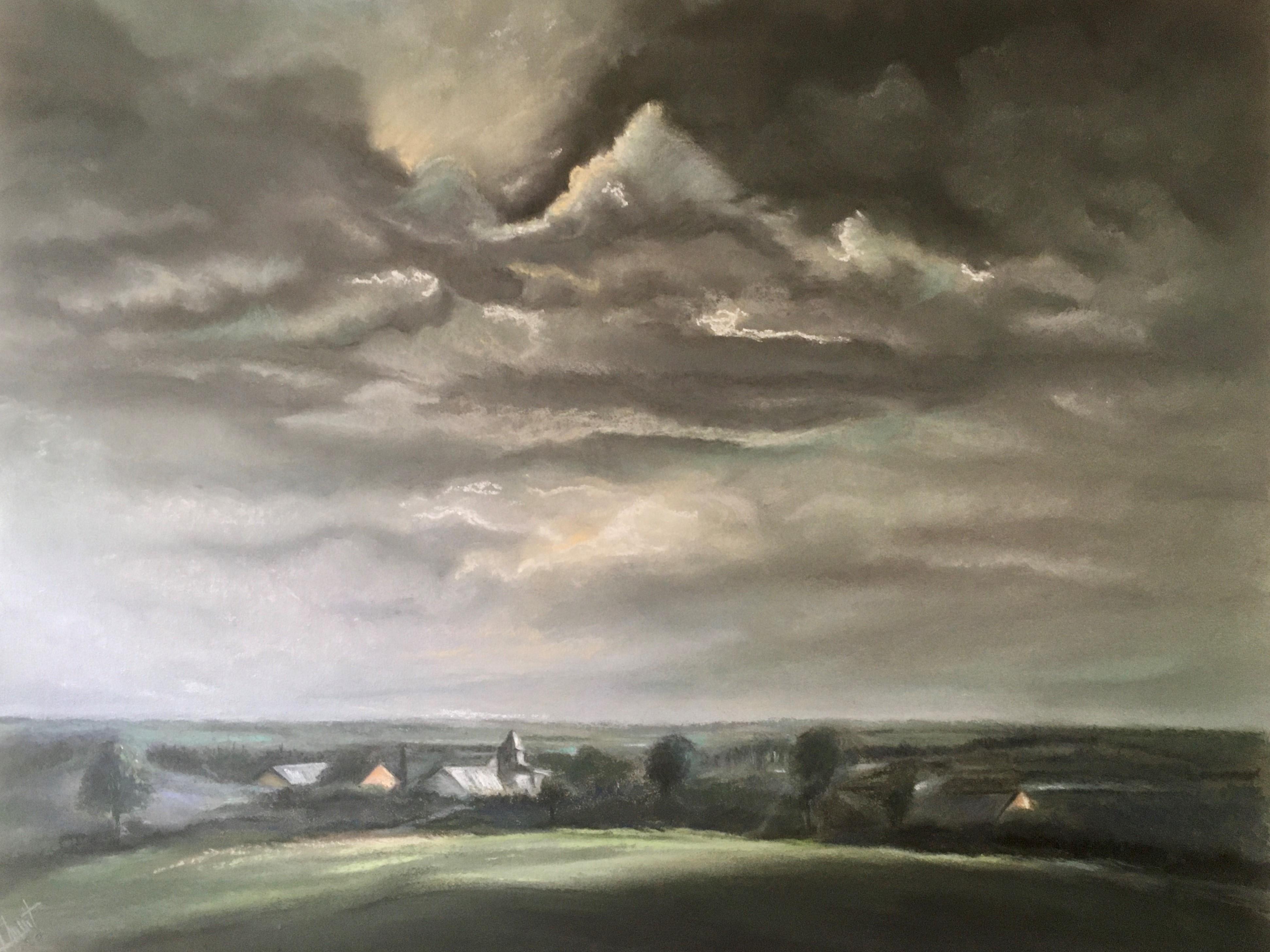 orage sur le clocher de Frassem