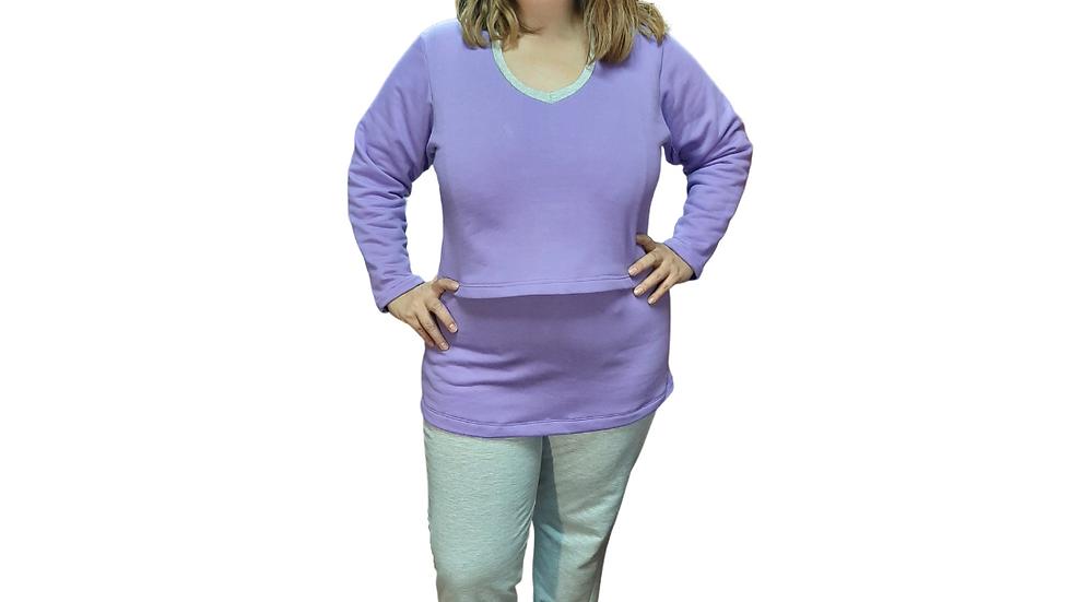 Pijama de Lactancia Franela