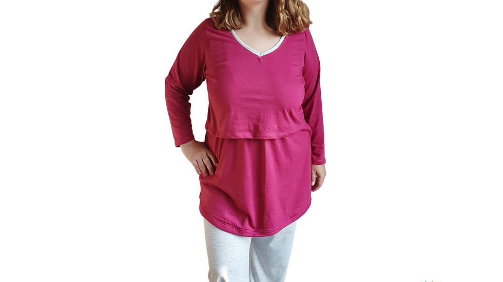 Pijama-Camisa de Lactancia