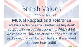 British Values (1st March 2021)