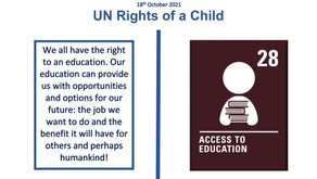 UN Rights of a Child (18th October 2021)