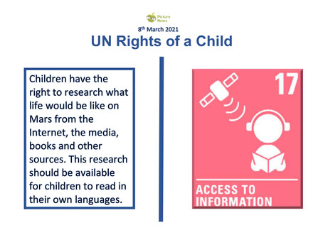 UN Rights of a Child (8th March 2021)
