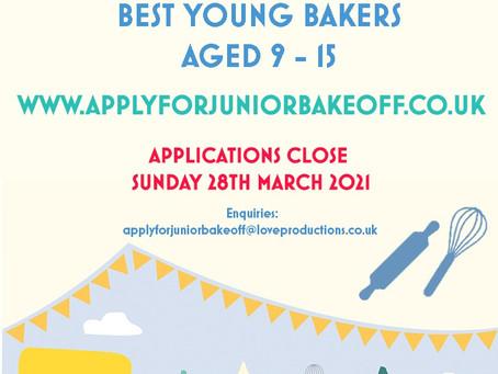 Junior Bake Off Applications Open