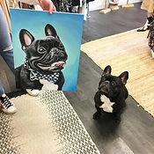 black frenchie dog painting example Voda