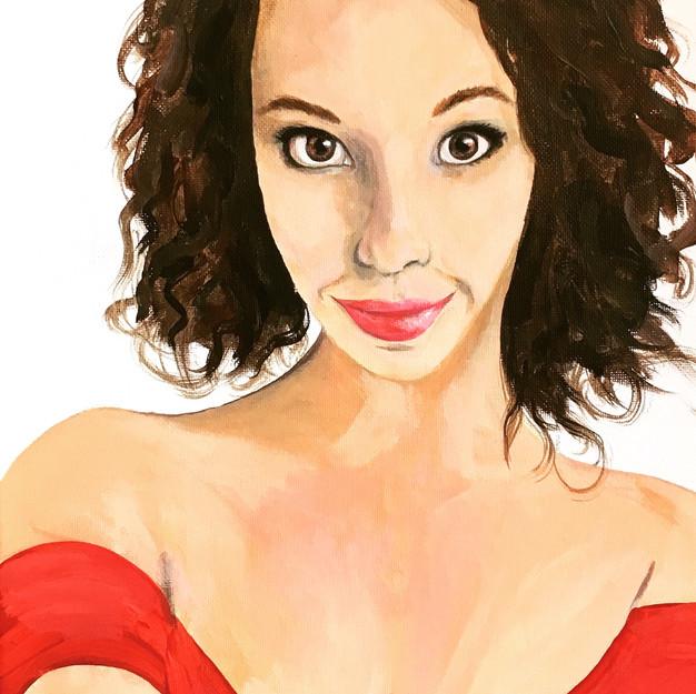 Self Portrait Amy Yeager Jorge NC artist
