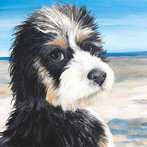 pet portrait painting wake forest nc ral