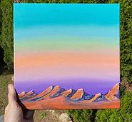 southwest landscape rocky sun lit mounta