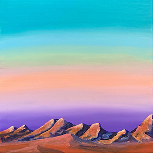 landscape desert painting orange rocks s