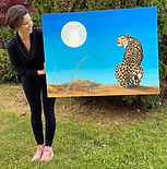 amy yeager jorge painting cheetah.jpg