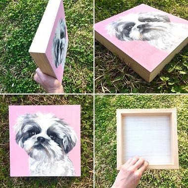 wood board pet portrait by Amy Yeager Jo
