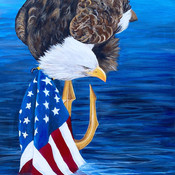 Navy Seal Bald Eagle painting Amy Yeager