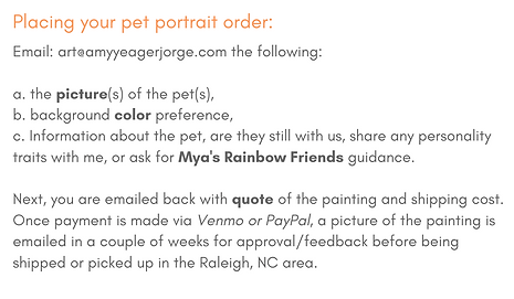 custom pet portrait ordering process amy