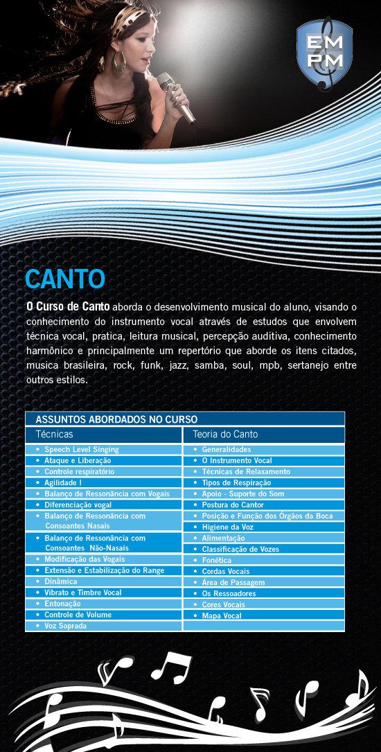 Aulas de Canto - Escola de Musica (Zona Sul, Santo Amaro, Interlagos, Cidade Dutra, Grajaú, Curso)