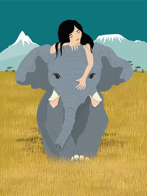 Elephant Walk - Art Print
