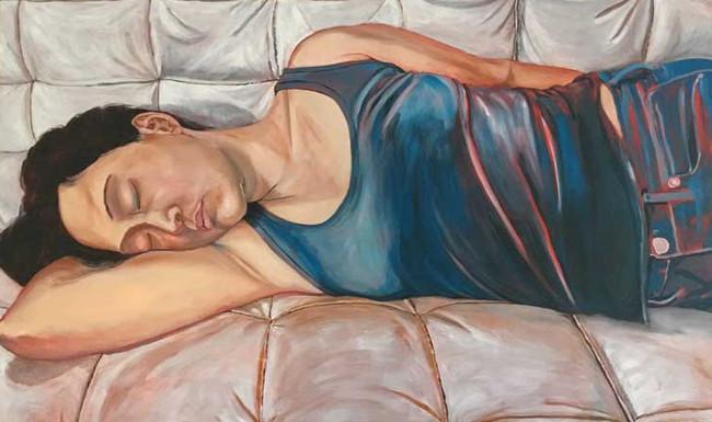 """She Sleeps Perchance to Dream 2"", 36"" x 60"", oil on canvas, $2,500"