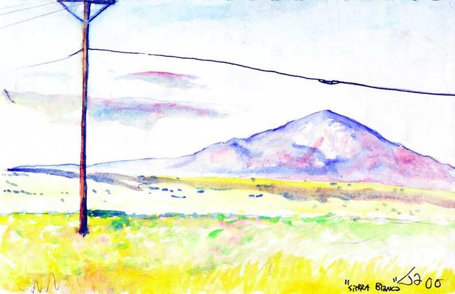 """Sierra Blanca"", 9"" x 12"", watercolor on paper, sold"