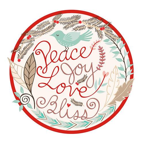 Peace Joy Love Bliss - Holiday Card