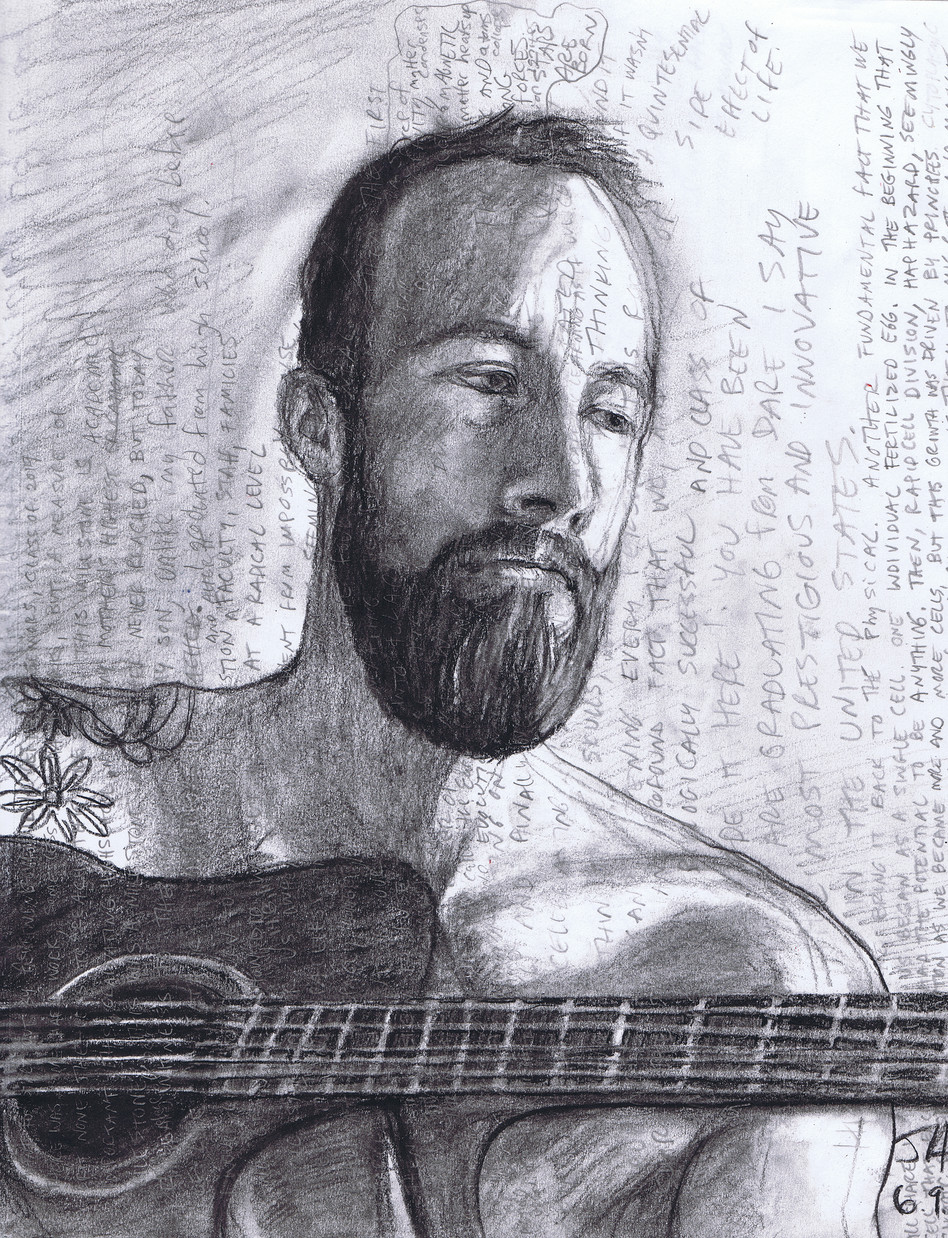 """Portrait of Josh"", charcoal on 11"" x 14"" paper, N.F.S."