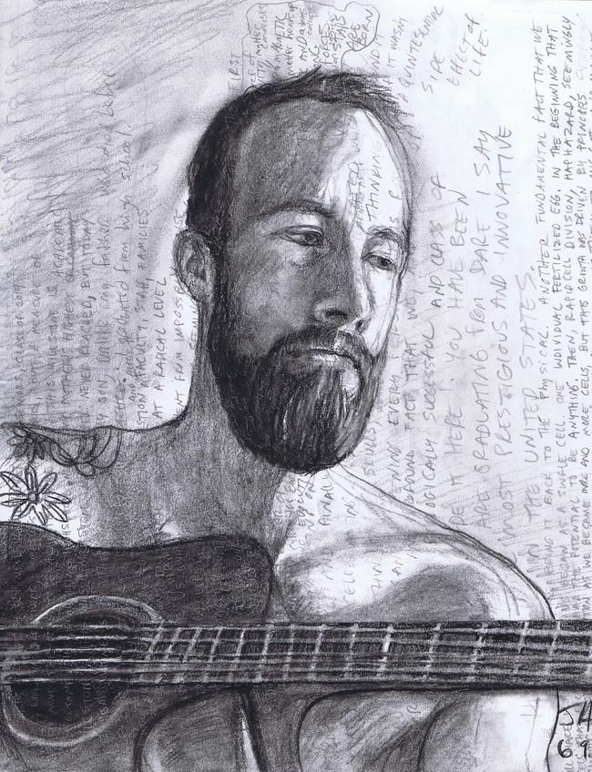 """Portrait of Josh"", charcoal on 11"" x 14"" paper, N.F.S."