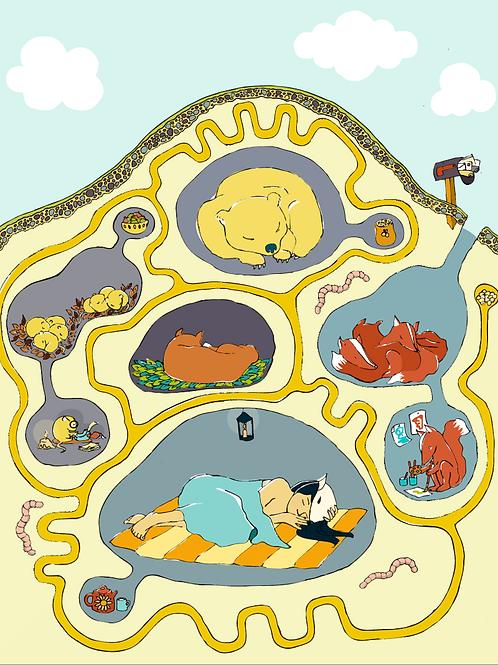 Hibernate - Art Print