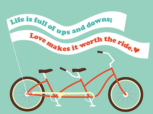 Love is Worth the Ride - Card