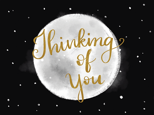 Thinking of you Moon - Card