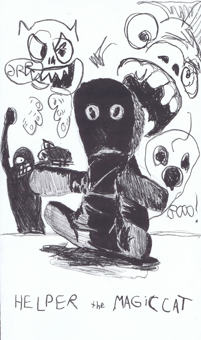 """""""Helper the Magic Cat"""", 14"""" x 10"""", lithograph on BFK Reeves paper"""