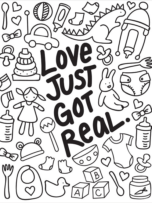 Love Just Got Real - New Baby Card