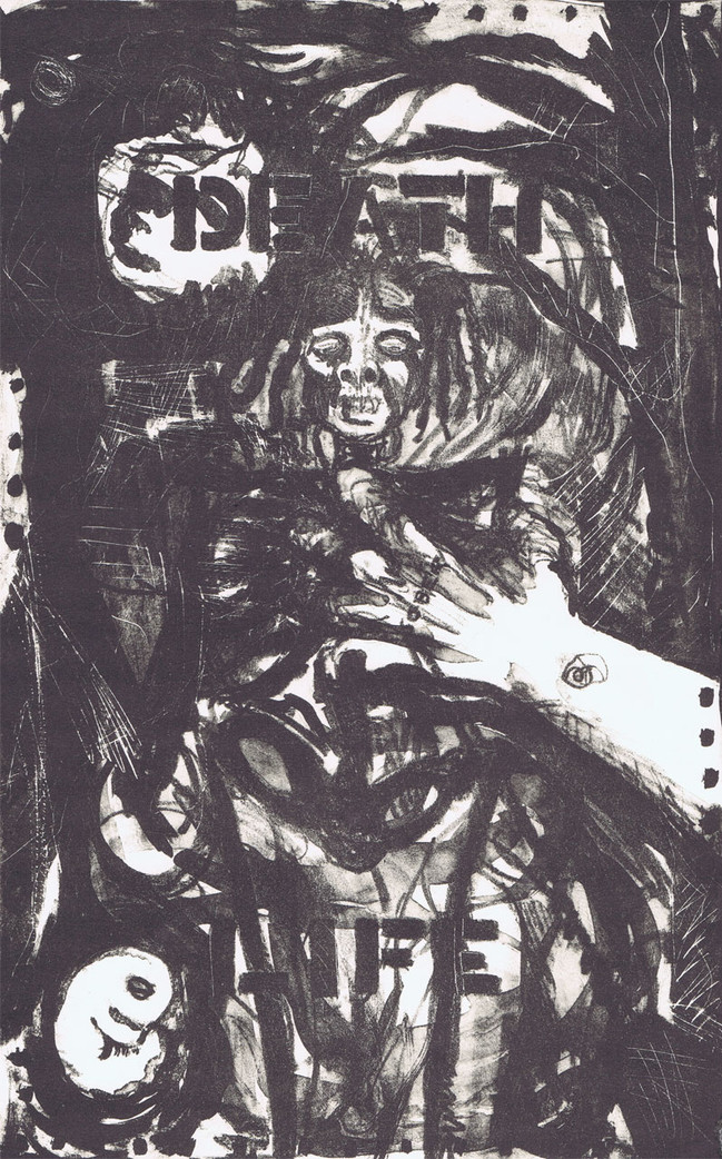"""""""November"""", 14"""" x 11"""", lithograph on Reeves BFK, sold"""