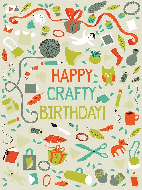 Happy Crafty Birthday - Card