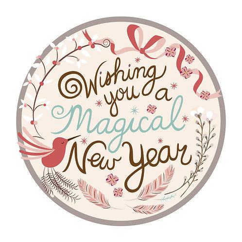 Magical New Year - Holiday Card