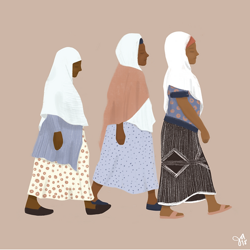 Three Women on a Walk