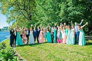 фото с гостями свадьба в спб свадьба в мятных тонах