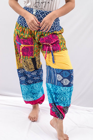 Patch-work Harem pants