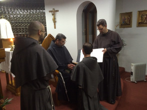 Friar Jerome M. renews his Simple Vows