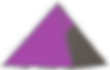 Purple and grey pyramid logo