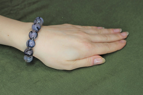 Dragon Vein Agate Bracelet - 10mm