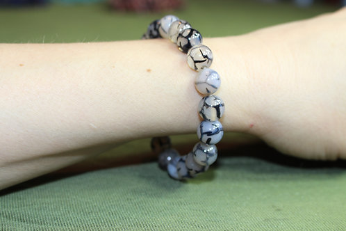 Dragon Vein Agate Bracelet - 8mm