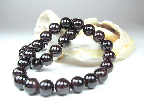 Garnet Bracelet - 10mm beads