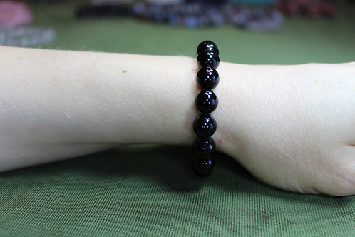 Black Tourmaline Bracelet  - 8mm beads