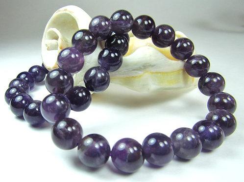 Amethyst Bracelet - 8mm beads