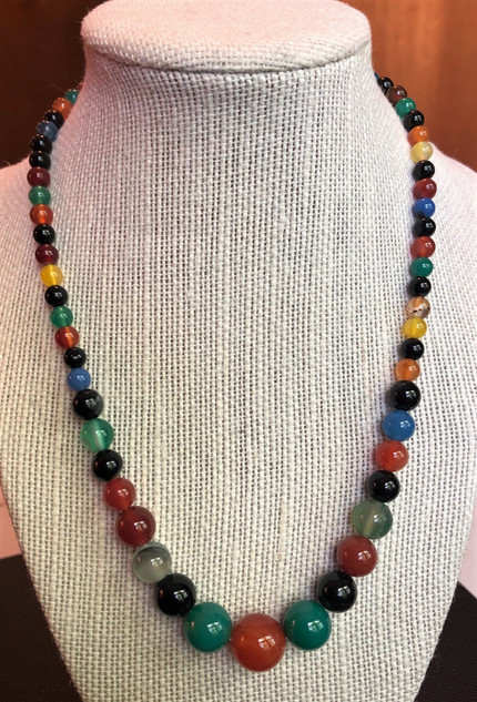 Rainbow Agate Necklace