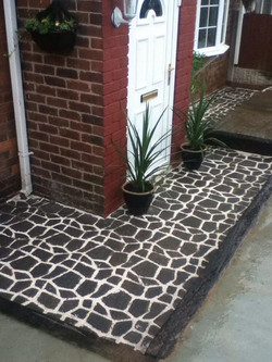 Mould path work finished of with white sand   #looksgood !!